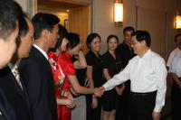 中共中央总书记、国家主席、中央军委主席胡锦涛接见我校实习生
